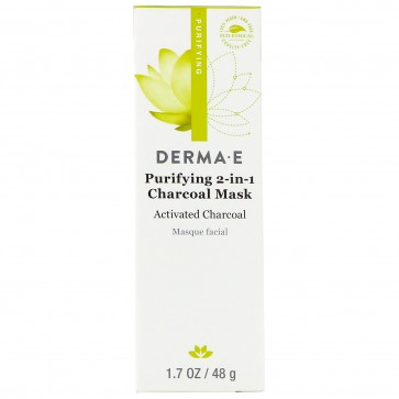 Derma E Purifying 2-in-1 Charcoal Mask 1.7 oz (48 g)