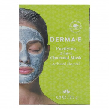DERMA E Purifying 2-In-1 Charcoal Mask, .03 Ounce
