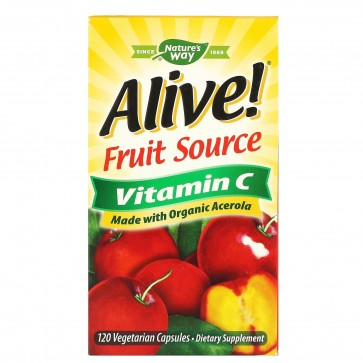 Nature's Way Alive! 100% Whole Food Complex Vitamin C 120 Capsules