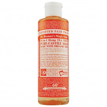 Dr. Bronner's Pure Castile Bar Organic Soap Tea Tree 5 oz