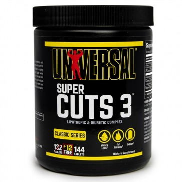 Universal Nutrition Super Cuts 3 Two Stage Lipotropic and Diuretic Complex 130 Tablets