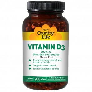 Vitamin D3 (5000 IU) - 200 Softgels