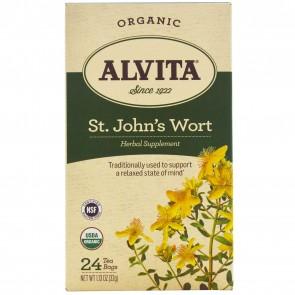 Alvita Organic Herbal Tea St. John's Wort Tea  24 Tea Bags