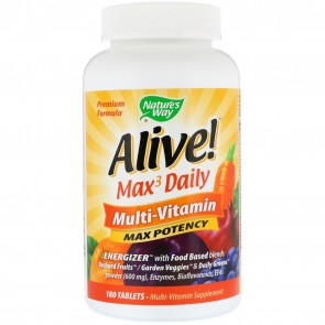 Natures Way Alive Multi Vitamin With Iron 180 Tablets