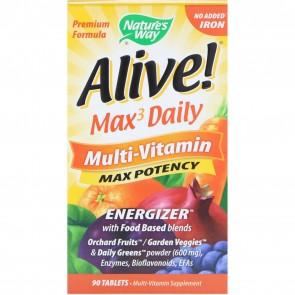 Nature's Way Alive Multivitamin Iron Free 90 Capsules