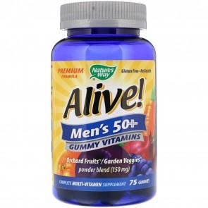 Nature's Way Alive Men's 50+ Gummy Vitamins 75 Gummies
