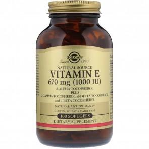 Solgar Vitamin E 1000 IU 100 Veggie Caps