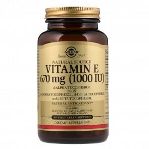 Solgar Natural Vitamin E, 400 IU, 100 Veggie Softgels