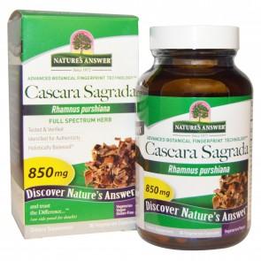Nature's Answer, Cascara Sagrada, Full Spectrum Herb, 850 mg, 90 Veggie Caps