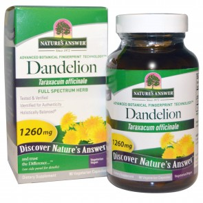 Nature's Answer Dandelion Root Single Herb Extract 90 Vegetarian Capsules