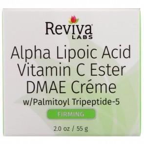 Reviva Labs - Alpha Lipoic Acid, Vitamin C Ester, & DMAE Cream- 2 oz