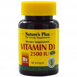 Natures Plus Vitamin D3 2500 IU   Vitamin D3 2500 IU