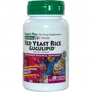 Nature's Plus Herbal Actives Red Yeast Rice 60 Vegetarian Capsules