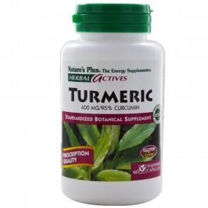 Nature's Plus Herbal Actives Turmeric 400 mg 60 Veggie Capsules