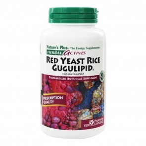 Natures Plus Herbal Actives Red Yeast Rice Gugulipid Complex   Herbal Actives Red Yeast Rice Gugulipid Complex