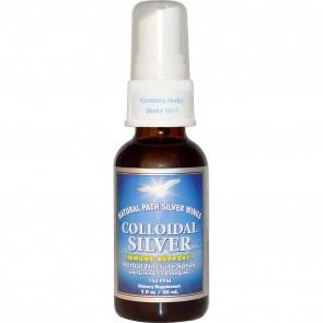 Natural Path Silver Wings Colloidal Silver Herbal Tincture Spray Echinacea & Oregano 150 PPM 1 fl oz