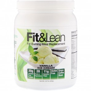 Fit and Lean Fat Burning Meal Replacement Vanilla Ice Cream 0.97 lbs