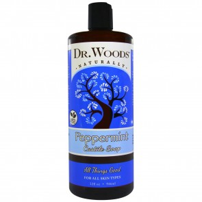 Dr. Woods Natural Castile Soap Pure Peppermint 32 oz.
