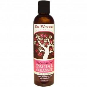 Dr. Woods Black Soap & Shea Butter Daily Exfoliating Facial Cleanser 8 fl oz