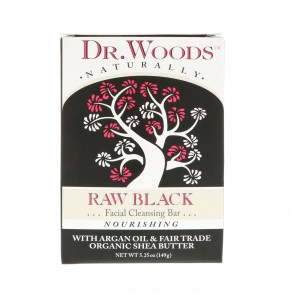 Dr. Woods Raw Black Facial Cleansing Bar