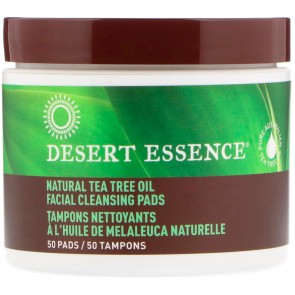 Desert Essence - Natural Facial Cleansing Pads with Tea Tree Oil