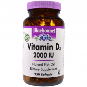 Bluebonnet Vitamin D3 2000 IU 250 Softgels