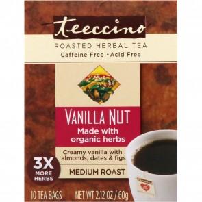 Teeccino Herbal Coffee Vanilla Nut 10 Bags