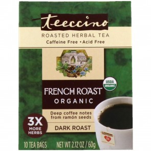 Teeccino French Roast Herbal Coffee Tee 10 Bags