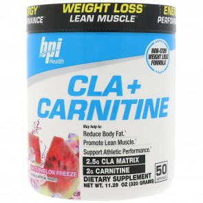 BPI Health CLA + Carnitine Watermelon Freeze 300 Grams (50 Servings)