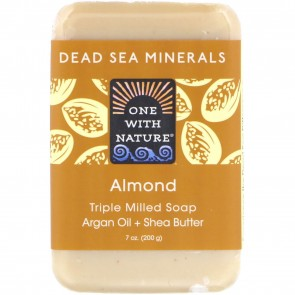 One With Nature Dead Sea Mineral Bar Soap Almond 7 oz