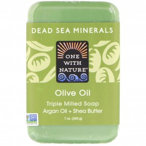 One With Nature-Dead Sea Olive Oil Soap 7oz