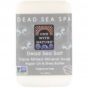 One With Nature - Dead Sea Mineral Bar Soap Rejuvenating Dead Sea Salt - 7 oz.