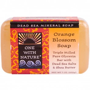 One With Nature - Dead Sea Mineral Bar Soap Pure Glycerin Orange Blossom 7 oz