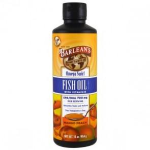 Barleans Omega Swirl Fish Oil Vitamin D Mango Peach 8 oz
