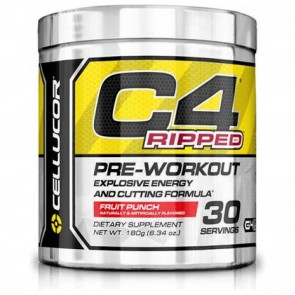 Cellucor C4 Ripped Pre-workout Cutting Formula Fruity Rainbow Blast 30 Servings 6.34 oz