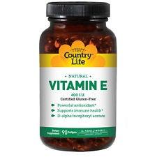 Country Life Natural Vitamin E 400 IU 90 Softgels