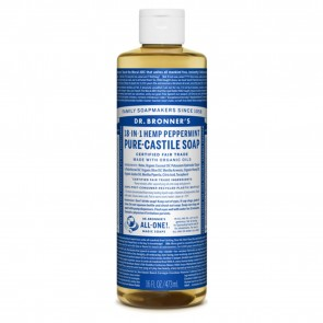 Dr. Bronner's Castile Liquid Soap Peppermint 16 oz