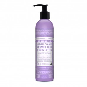 Dr. Bronner's Organic Hand & Body Lotion Lavender Coconut 8 oz