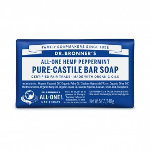 Dr. Bronner's Pure Castile Bar Organic Soap Peppermint 5 oz