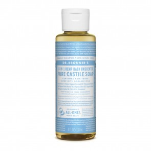 Dr. Bronner's Pure Castile Liquid Organic Soap Baby Unscented 4 oz