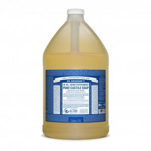 Dr. Bronner's Pure Castile Liquid Organic Soap Peppermint 1 Gallon