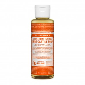 Dr. Bronner's Pure Castile Liquid Organic Soap Tea Tree 4 oz