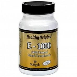 Healthy Origins - Vitamin E 1000 IU - 60 Softgels