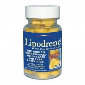 Lipodrene With Ephedra Extract 100 Tablets by Hitech
