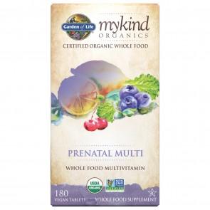 Garden of Life MyKind Organics Prenatal Multi Whole Food Multivitamin 180 Vegan Tablets
