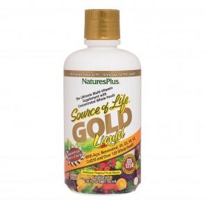 Nature's Plus Source Of Life Gold Liquid Multivitamin Tropical Fruit Flavor 30 fl oz