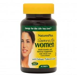 Natures Plus Source of Life Women's Multi 60tb
