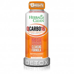 Herbal Clean QCarbo16 Detox Orange 16 oz   QCarbo16 Detox Orange 16 oz