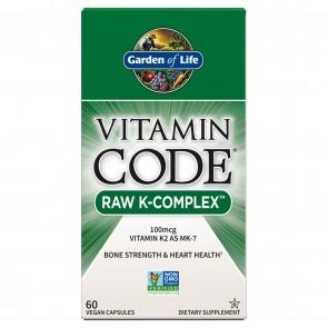 Garden of Life Vitamin Code R K-Complex 60 Capsules