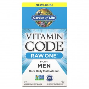 Garden of Life Vitamin Raw One For Men 75 Vegetarian Capsules